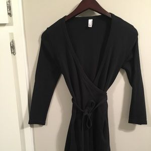 American Apparel Wrap Dress Sz Sm Black